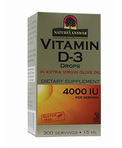 Nature's Answer Vitamin D-3 Drops 4000 IU, 0.5-Fluid Ounce Liquid Vitamin D-3