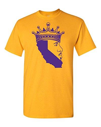 King of Los Angeles, California Beard Mens T-Shirt (Medium, (Lakers Tee Shirts)