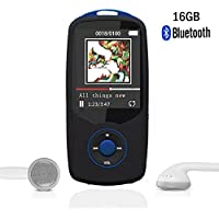 RUIZU Sport Bluetooth 16 GB MP3 Player Hifi Lossless Sound with FM Radio -Support up to 64GB Micro SD Card-Blue