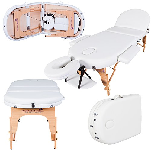 Massage Imperial Monarch Ivory White 3-Section Portable Massage Table 7cm/3