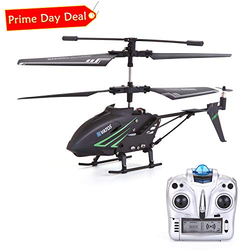 RC Helicopter, Remote Control Helicopter with Gyro and LED Light 3.5HZ Channel Alloy Mini Helicopter Remote Control for Kids & Adult Indoor Outdoor Micro RC Helicopter, Helicopter Toy for Kids (Fast Remote Control Helicopter)