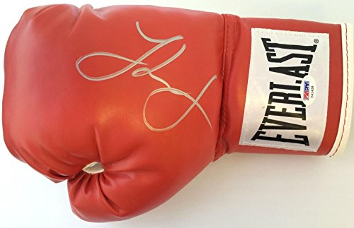 J'Leon Love Signed Red Everlast Boxing Glove COA Y41436 -...