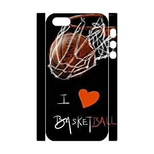 Custom Cover Case with Hard Shell Protection for Iphone 5,5S 3D case with basketball lxa#246118 by mcsharks