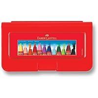FABER-CASTELL 5281125112 Altıgen Pastel Plastik Kutu,12'li 12 Renk