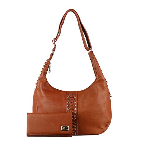 Concealed Carry Purse - Conceal Carry Louise Knotted Hobo with Matching Wallet by Miss Conceal by Miss Conceal