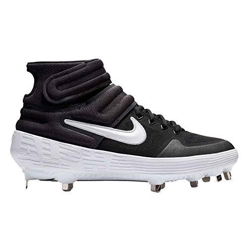Nike New Mens Alpha Huarache Elite 2 Mid Metal Baseball Cleats Black/White 7.5M