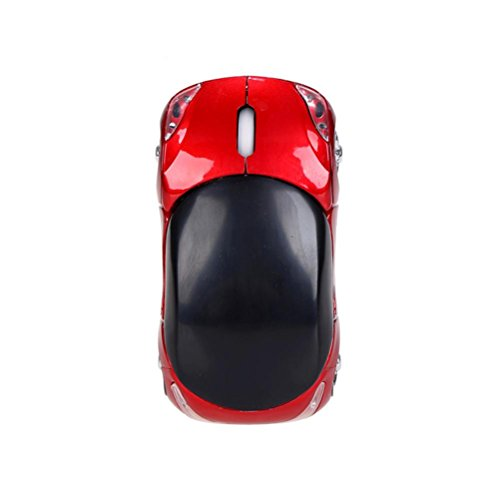 Price comparison product image Wireless Optical Mouse,  StyleV 2.4GHz 1200DPI Car-shaped Mouse USB Scroll Mice for Tablet Laptop Computer (red)