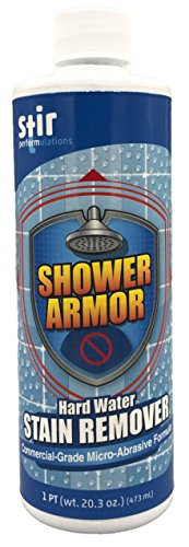 Cheap Hard Water Stain Remover - Shower Armor Commercial Grade Micro-Abrasive Cleaner Eliminates Water Spots on Shower Doors, Windows, Toilets, Sinks, Windshields, Bathtubs, Metals and More (20oz) supplier