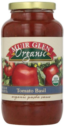 Muir Glen Organic Sauce, Tomato Basil, 25.5-Ounce Glass Bottle (Pack of 6 )