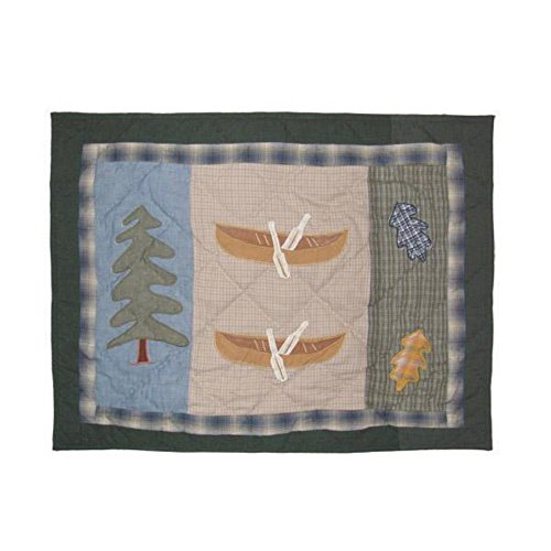 Northwood Canoe Bears (Patch Magic Northwoods Walk-Canoe Pillow Sham, 27-Inch by 21-Inch)
