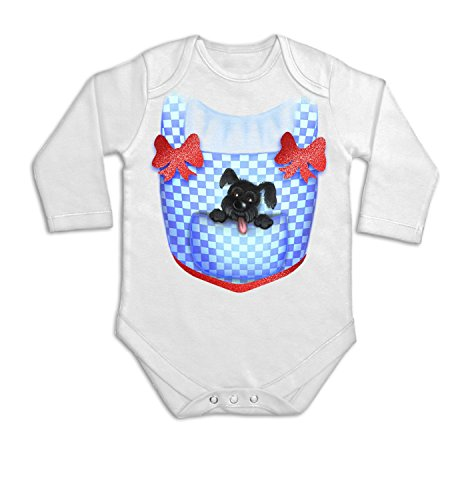 [Dorothy Costume Long Sleeve Baby Grow - White 3/6 Months] (Baby Dorothy Costumes)