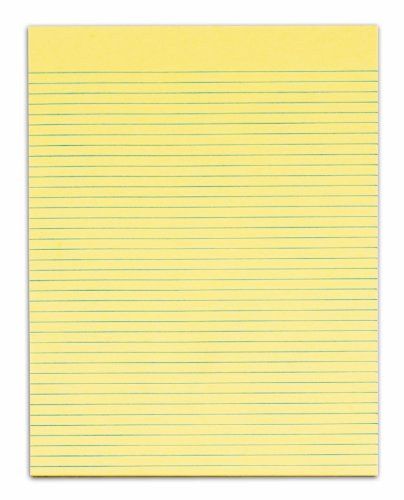 TOPS Second Nature 100% Recycled Legal Pad, 8-1/2 x 11 Inches, Gum-Top, Canary, Narrow Rule, 50 Sheets per Pad, 12 Pads per Pack (74862) by Tops