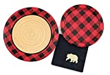 Buffalo Plaid Party Set - 16 Plates Napkins Lumberjack Birthday Bear Baby Shower