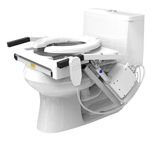 (EZ-ACCESS TILT Toilet Incline Lift, Single Motor, Elongated Seat )