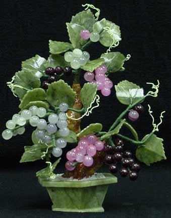 Mixed Jade Grapes Tree 201-68c (Jade Bonsai Flower Tree)
