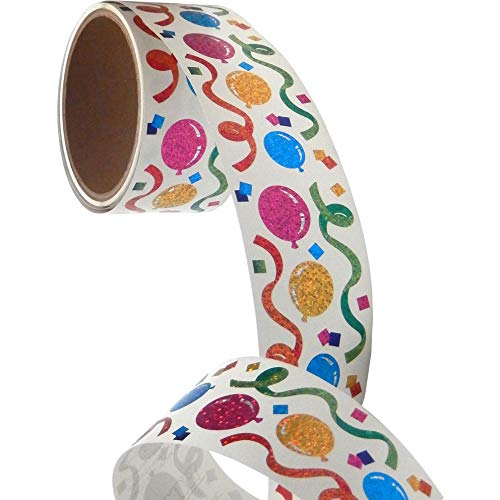 Bulk Roll Prismatic Stickers, Balloons/Streamers (50 Repeats)]()