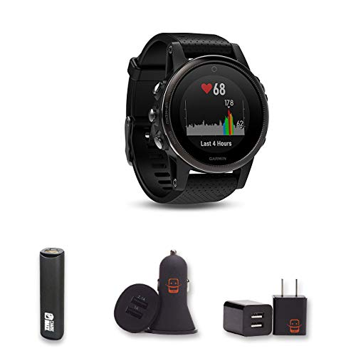 Garmin Fenix 5X Sapphire – (Slate Gray/Black Band) + PowerBank + USB Car Charger + USB Wall Charger, EZEE Bundle Review