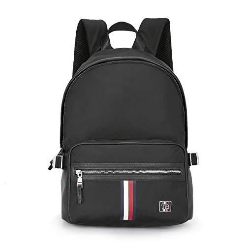 Tommy Hilfiger 22 Ltrs Black Laptop Backpack  Clean Nylon Backpack