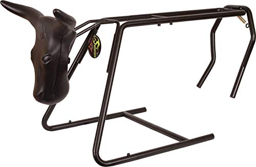 Southwestern Equine Roping Heading and Heeling Dummy Stand - Collapsible/Portable (Collapsible Dummy + 45' Rope)