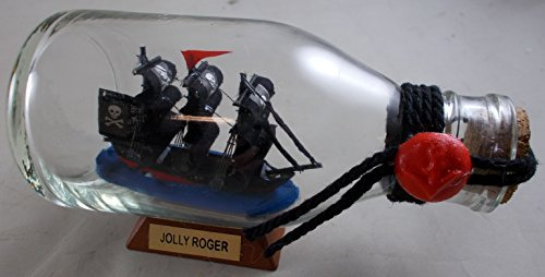 Pirate Ship JOLLY ROGER Ship in A Bottle Model UD