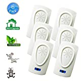 HQTech Ultrasonic Pest Repeller Repellent Plug in Indoor-2019 Electronic Ultrasonic Bug&Mosquito Repellent 6 Packs Pest Control for Roach, Spider, Rodent,Bedbugs, Fly, No Trap, Sprayer,Baits&Poison