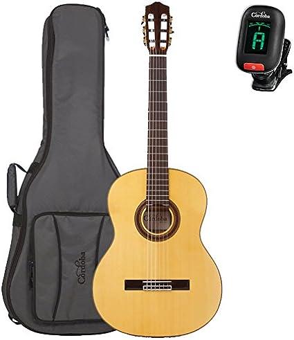 Cordoba F7 acústica (cuerdas de nailon Flamenco Guitar Bundle y ...