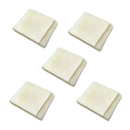 HQRP 5-pack Humidifier Wick Filter for Kenmore 14906 EF1, Emerson MoistAir MAF1 Replacement, 42-14906 / 32-14906 + HQRP Coaster