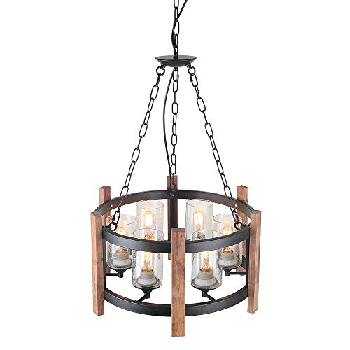 Circular Glass Pendant Light in US - 6