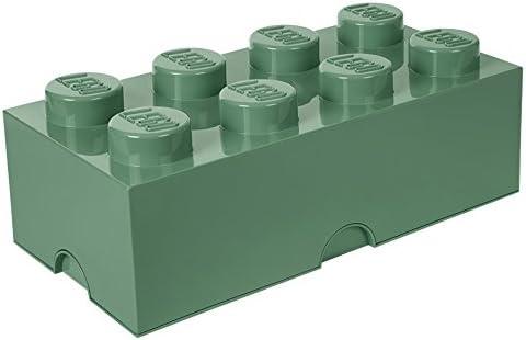 Room Copenhagen 4004 Ladrillo de Almacenamiento de 8 espigas de Lego, Caja de almacenaje apilable, 12 l, Legion/Sand Green, 50 x 25 x 18 cm: Amazon.es: Hogar