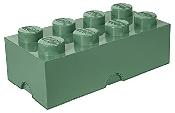 Lego Storage Box Brick 8 DIF Sand Green 40041747  sc 1 st  Amazon.com & Amazon.com: Lego Storage Box Brick 8 DIF Sand Green 40041747 ...
