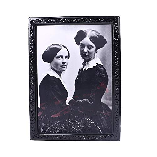 Glass figurines Picture Frame - Halloween Horror Photo Spooky Photo Ghost Frame 3D Party Morphing Wall Home Stimulate Haunted Scary