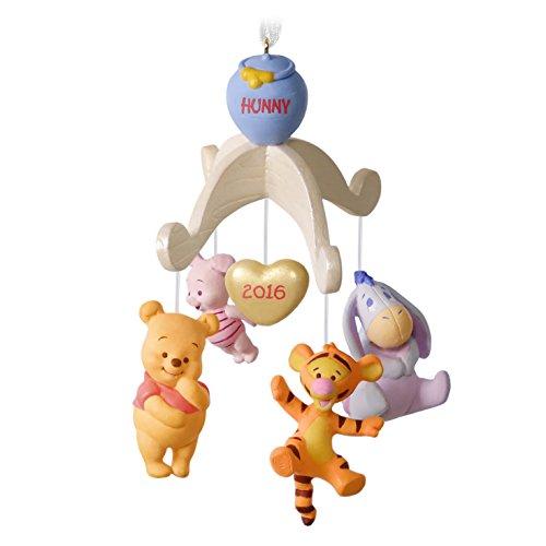 Disney Winnie the Pooh Christmas Ornament Baby's First Christmas Dated 2016 Hallmark Keepsake Ornament