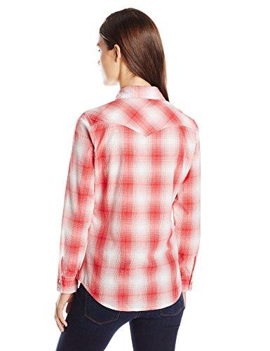 Camicia Plaid Plaid Wrangler Red Red Wrangler Donna Camicia Donna c1BqpWya