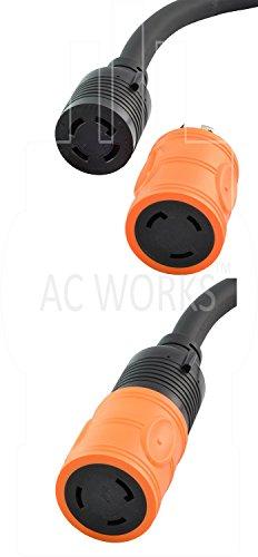 AC WORKS [ADL1430L530] Locking Adapter L14-30P 30A 125/250Volt 4-Prong Male Plug to L5-30R 3-Prong 30A 125Volt Locking Adapter by AC WORKS (Image #5)