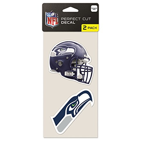 WinCraft NFL Seattle Seahawks 2-Piece Die-Cut Decal, 4