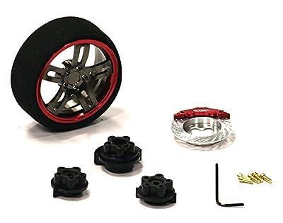 Integy Hobby RC Model Hop-ups C23827REDGUN Evolution XII Steering Wheel Set for Most HPI, Futaba, Airtronics, Hitec & KO