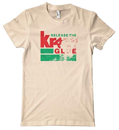 (Kragle Premium T-Shirt, Creme, Large)