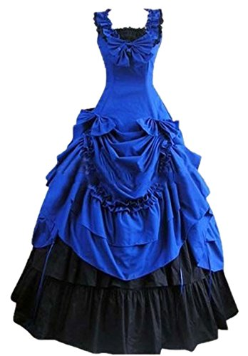 Gothic Victorian Costume Nuoqi Women's Halloween Cosplay Dress - Victorian Vampiress Halloween Costume