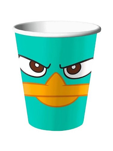 Disney Phineas and Ferb Agent P 9 oz. Paper Cups (8 count) Party Accessory by Hallmark