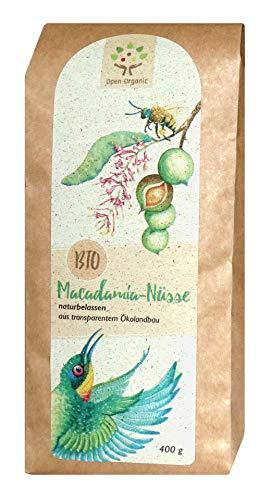 Bio-Macadamianüsse (400g) naturbelassen aus transparentem Ökolandbau