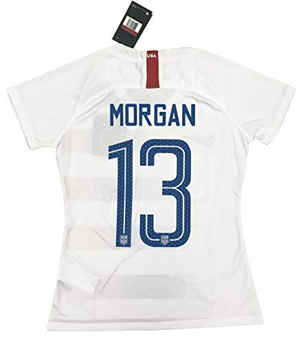 4ace7880a Amazon.com  New  13 Morgan Women s USA Soccer 2018 2019 Home Jersey  (Large)  Clothing