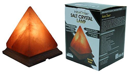 Indusclassic Pyramid Himalayan Crystal Salt Lamp Air Puri...