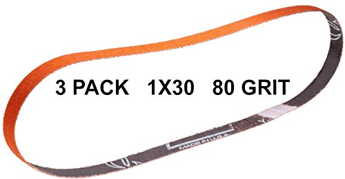 Norton SG Blaze Plus-1x30-80 Grit Ceramic Sharpening Belts 3 Pk - Long Lasting by Pro Sharpening Supplies