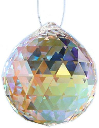 Regenbogenkristall KUGEL ca 20 mm Kristallglas Suncatcher Feng Shui Tipp