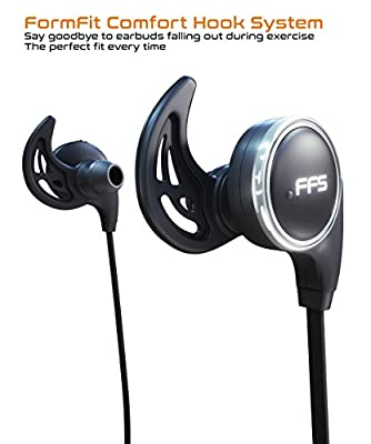 Foot Forward Bluetooth Headphones Wireless 4.1 Earbuds Stereo Earphones Headset, Secure Form Fit for Sports & Running with Built-in Mic
