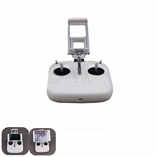Hooshion MobileTablet Holder Extended Holder for DJI Phantom 3 Standard Edition Remote Control - Can be stretched clip