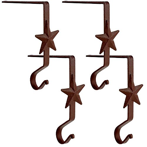 Wrought Iron Star Stocking Hanger 6