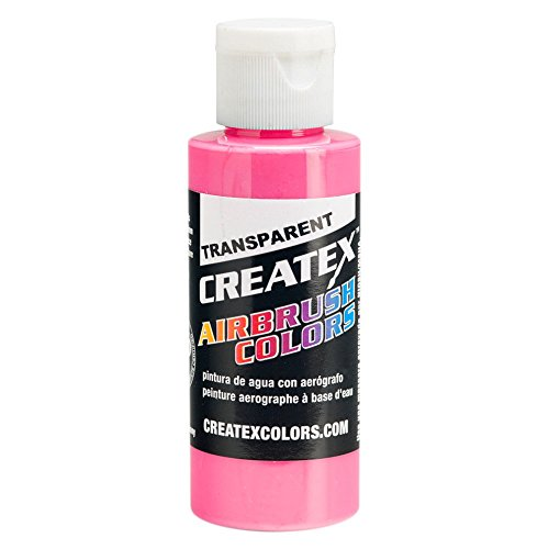 (Createx Airbrush Paint,Transparent Flamingo Pink, 4 oz)