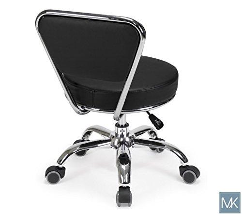 Salon Nail Pedicure Stool Pedicure Chair DAYTON BLACK Pneumatic, Adjustable, Rolling Salon Furniture & Equipment by MAYAKOBA (Image #4)