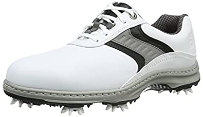 Footjoy Men Contour Golf Shoes, White (White/Grey/Black